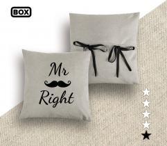 Zestaw do odszycia poszewki na poduszkę - wzór Mr Right
