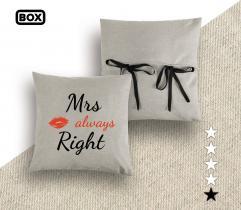 Zestaw do odszycia poszewki na poduszkę - wzór Mrs Always Right