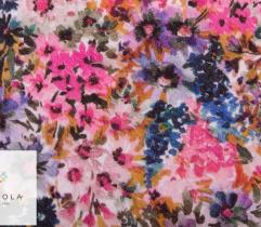 Woven Viscose Fabric - field flowers