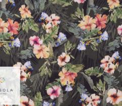 Woven Viscose Fabric - flowers in the tropics