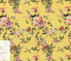 Tkanina bawełna z elastanem - kwiaty na miodowym