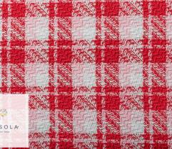 Channel fabric - red check