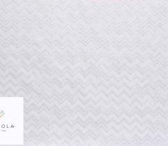 Tkanina bawełniana biały zygzak