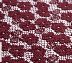 Lace - small flowers in burgundy