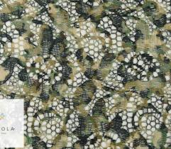 Koronka drukowana - kwiatki w odcieniach zieleni