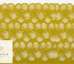 Koronka 16 cm - kwiaty musztarda