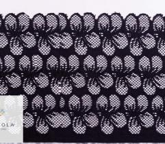 Lace 16 cm - black flowers