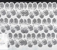 Koronka 16 cm - kwiaty ecru