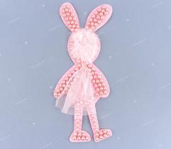 Sew-on badge Rabbit - pink