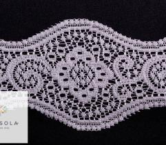 Lace 16 cm - flower grey wave
