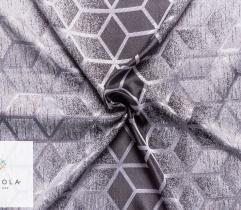 Woven Curtain Fabric – silver cube