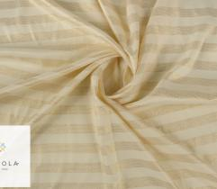 Woven curtain fabric - gold stripes