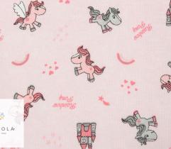 Jersey single - różowe kucyki