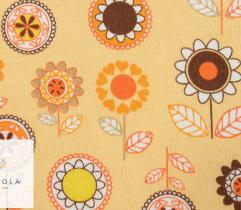 Jersey single – flowers on yellow