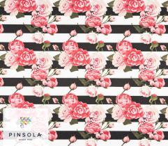Tkanina Lotos 260 g - różany ogród pion