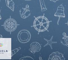 Tkanina poliestrowa - morskie klimaty