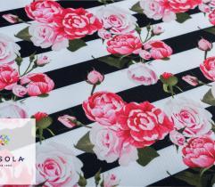 Tkanina ogrodowa - różany ogród w poziomie