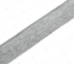 Knit rib 3 cm - silver, glitter