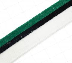 Knit rib 4 cm - green, white, black