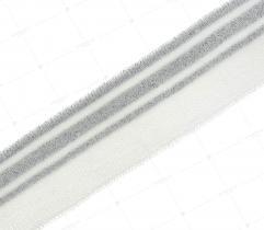 Ściągacz 3 cm - biały, srebro