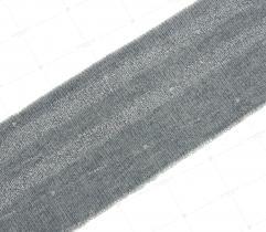 Ściągacz 5 cm - szary, srebrny brokat
