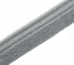 Ściągacz 3,5 cm - szary, srebrny brokat