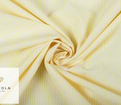 Woven Fabric Zefir - yellow stripes