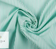 Woven Fabric Zefir – minty green stripes