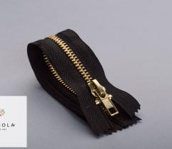 Metal Closed-end Zipper 14 cm - Black