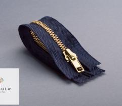 Metal Closed-end Zipper 14 cm - Navy Blue