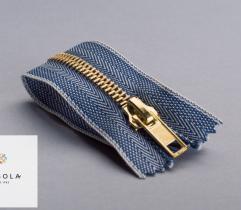 Metal Closed-end Zipper 14 cm - Blue