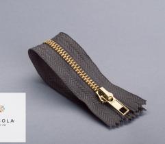 Metal Closed-end Zipper 16 cm - Graphite Grey