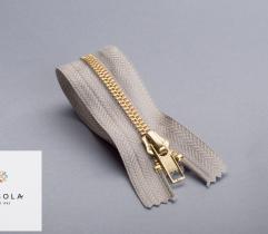 Metal Closed-end Zipper 18 cm - Grey