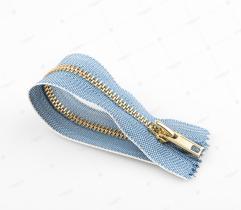 Zamek metalowy nierozdzielczy 18cm - jeans prążek