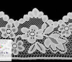 Koronka 10 cm - kwiaty ivory