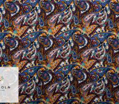 Tkanina Wiskoza - Kolorowy Paisley