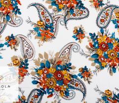 Woven Viscose Fabric - Autumn Paisley