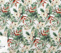 Tkanina Wiskoza - Egzotyczne Kwiaty