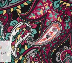 Woven Viscose Fabric - Paisley Red