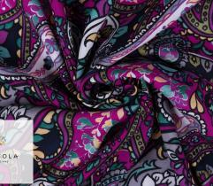 Woven Viscose Fabric - Paisley Pink
