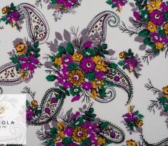 Woven Viscose Fabric - Spring Paisley