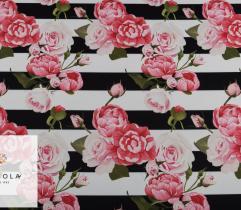 Tkanina Barbie - Różany Ogród