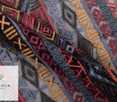 Tiul Haftowany - Azteckie Wzory