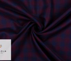 Woven Premium Fabric - Navy Blue and Burgundy Check