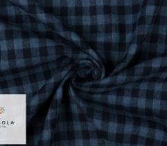Woven Premium Fabric - Herringbone Blue