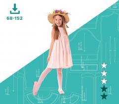 Wykrój sukienki dziewczęcej Lenka 68 - 152 PLIKI A4