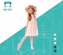 Wykrój sukienki dziewczęcej Lenka 68 - 152 Wydruk wielkoformatowy
