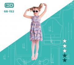 BOX: Wykrój sukienki dziwczęcej Lenka 68 - 152 i surowce