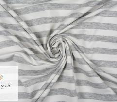 Loopback Jersey – Grey-white Stripes
