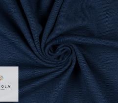 Dzianina Premium - Błękitno-Granatowa Pepitka